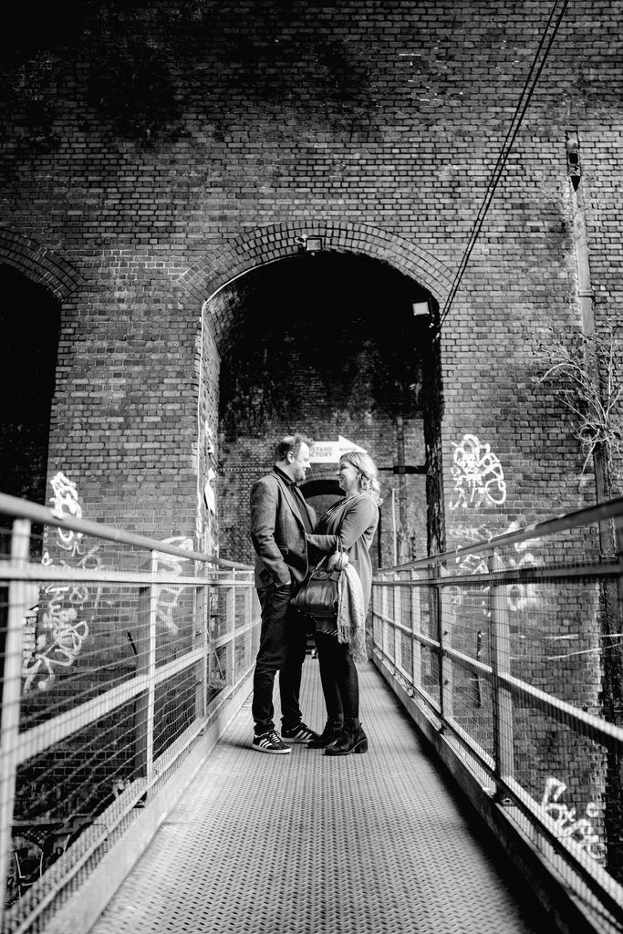 urban Birmingham engagement shoot