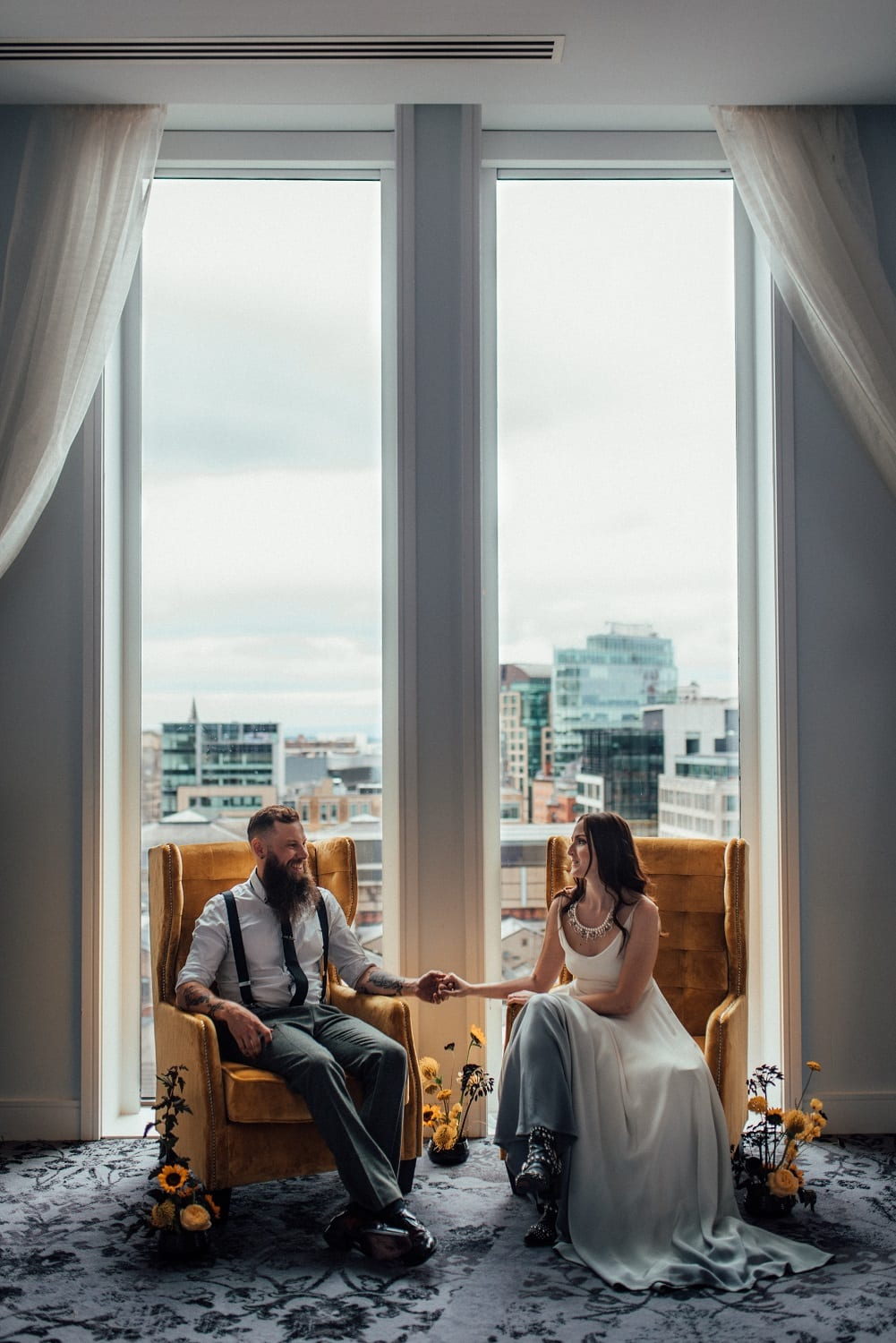 city elopement with city views