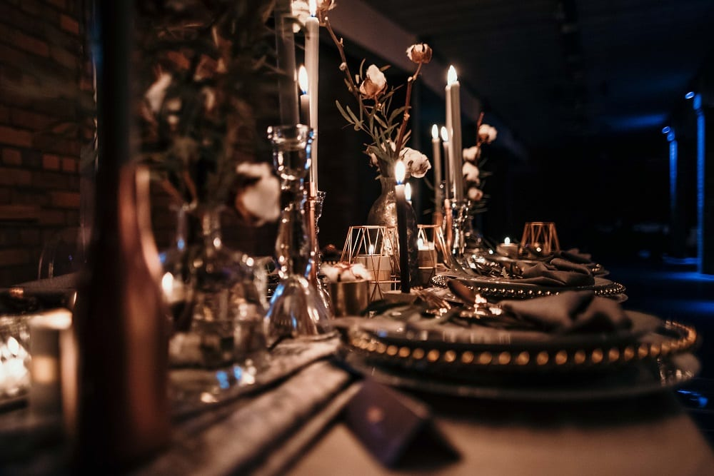 wedding table candles